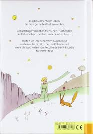 Der Kleine Prinz Immer Währender Kalender Mit Zitaten Von Antoine
