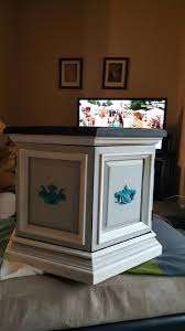 End Table Paint Ideas Hexagon Chalk Painted End Table Diy Furniture Pinterest