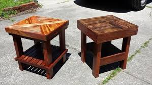 Wood pallet furniture ideas Outdoor Furniture 20 Diy Pallets Wooden Side Tables And End Table Ideas Pallets Platform 20 Diy Pallets Wooden Side Tables And End Table Ideas Pallets Platform