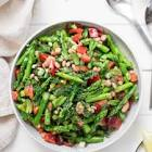 asparagus and green bean salad with herb dijon dressing