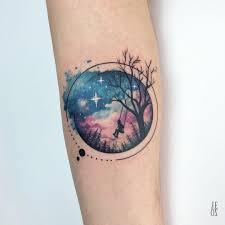 Tattoo Uploaded By Tattoodo Watercolor Galaxy Tattoo By Yeliz