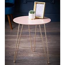 malvern side table blush rose gold