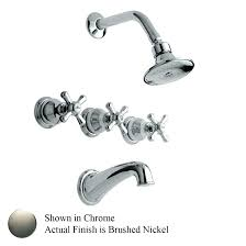 3 handle tub faucets mesmerizing 3 handle tub faucet photo 4 of brushed nickel 3 handle