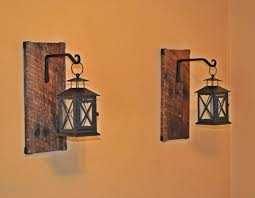 reclaimed wood hanging candle lantern