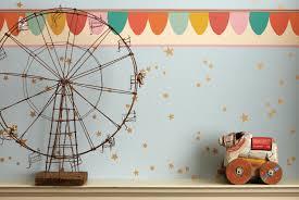 Whimsical Stars Wallpaper With Scaramouche Border Kidsroom Star