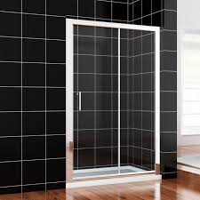 1000x800mm sliding shower cubicle enclosure glass screen doors stone tray waste