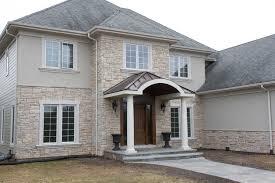 exterior stone facade. stone veneer and stucco exterior facade u