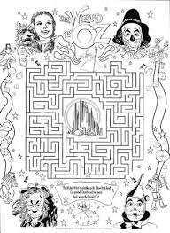Small Picture wizard of oz maze colouring pages Wizard of Oz Pinterest