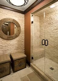 stone travertine bathroom shower wall