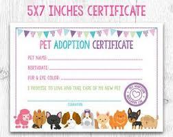 Pet Adoption Certificate Template Image Result For Pet Adoption Certificate Free Printable
