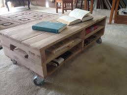 Pallet Coffee Table Plan With Casters Pallet Furniture Plans Part 4