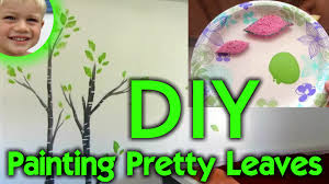 diy leaf painting beautiful tree wall art for kid s bedroom will s wonderful world you