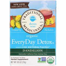 Traditional Medicinals <b>EveryDay Detox Organic</b> Dandelion Herbal <b>Tea</b>