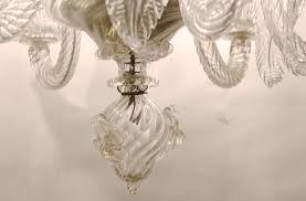 small 1940 s murano glass chandelier