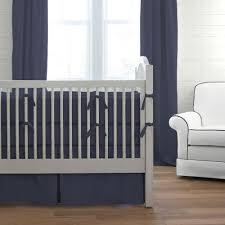 solid navy 3 piece crib bedding set