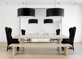 cool dining room lights. Dining Room Light Fixtures Cool Black Varnished Oak Wood Long Table Bright Round White Pendant Lamp Wooden Set Leather Chairs Lights U
