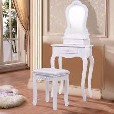 girls bedroom vanity. kids bedroom vanity set girls women wood makeup mirror table stool furniture new