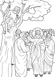 Jesus & matthew the tax collector coloring sheet. Jesus And Zacchaeus Coloring Page Coloring Home