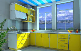 Paint Color For Small Kitchen Good Color For Small Kitchen With Yellow And Gray Color Schemes
