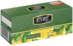 «ETRE», lemon чай <b>зелёный</b> с <b>лимоном</b>, 25 пакетиков, 50 г ...