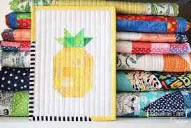Pineapple Quilt Pattern Gorgeous Free Patchwork Pineapple Mini Quilt Pattern Sewing 48 Free