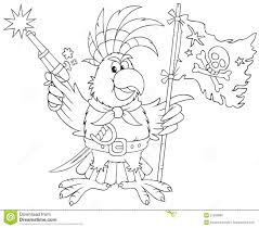 Des Sports Coloriage Perroquet Pirate Coloriage Perroquet Pirate