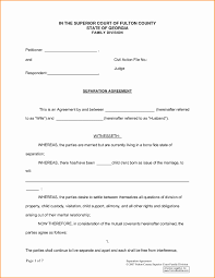 Business Separation Agreement Template Nice Trial Separation Agreement Template Ornament Documentation 1