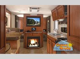Travel trailers interior Fireplace Lance Travel Trailer Sleek And Modern Lance Travel Trailer Interior With Fireplace Exploreusa Rv Lance Rv Travel Trailers Lightweight Built Strong Ocean Grove Rv