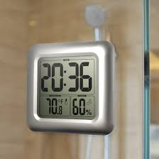 ... Clocks, Bathroom Wall Clock Unique Bathroom Clocks Square Digital Wall  Clock With Rounded On The ...