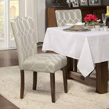 homepop pewter grey cream lattice elegance parson chairs set of pewter grey with cream silk like lattice pattern linen