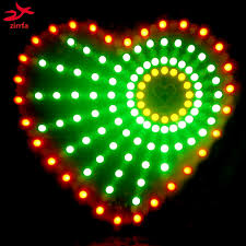 zirrfa New Multi color heart shaped lights cubeed,led <b>electronic diy</b> ...