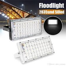 50w Outdoor Led Floodlight Spotlight Wall Washer Lamp Reflector Lighting Ip65 Waterproof Garden 220v For Yard Camping