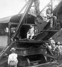Image result for Panama Canal construction site,