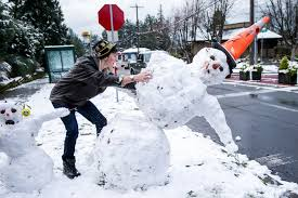 Let It Snow Scenes From Seattles White Christmas The Seattle Times