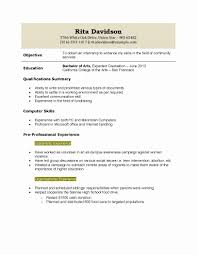 Sample Resume For High School Graduate With No Experience New