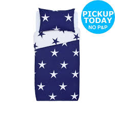 details about argos home large scale navy star bedding set single