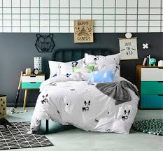 dog bedding set plain printed comforter cover 100 cotton queen size bed sheet set breathable