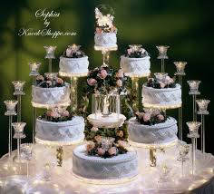 lighted wedding cake display sophia the knock pe