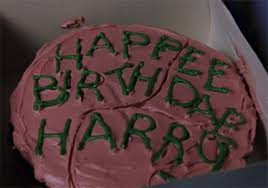 The Harry Potter Cookbook Project Harrys First Birthday Cake
