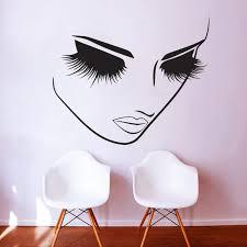 2 pcs makeup wall salon wall beauty