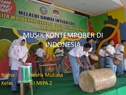 Kyai haji abdurrahman wahid, akrab dipanggil gus dur, lahir di jombang, jawa timur, 7 september 1940 dari pasangan wahid hasyim dan solichah. Musik Kontemporer Di Indonesia