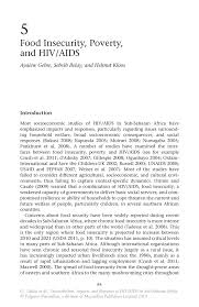food insecurity poverty and hiv aids springer inside