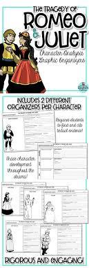 best romeo and juliet analysis ideas spoken  romeo and juliet character analysis graphic organizers