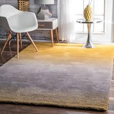 indoor area rugs 4 6 new nuloom handmade soft and plush ombre yellow rug 4 x 6