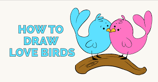 How To Draw Love Birds Really Easy Drawing Tutorial