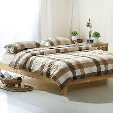 tan duvet cover. Simple Brown Light Tan Stripes White Plaids Linens Duvet Cover Set 100% Washed Cotton Queen