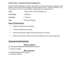 Java 1 Year Experience Resume Sample 3 Sample Resume For 1 Year