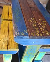 mexican painted furnitureBrilliant Design Mexican Outdoor Furniture Pleasing Rustic Wood