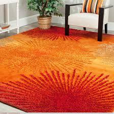 bold ideas orange area rug 8 10 brown x large 8x10 red
