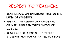 essay about respecting teachers